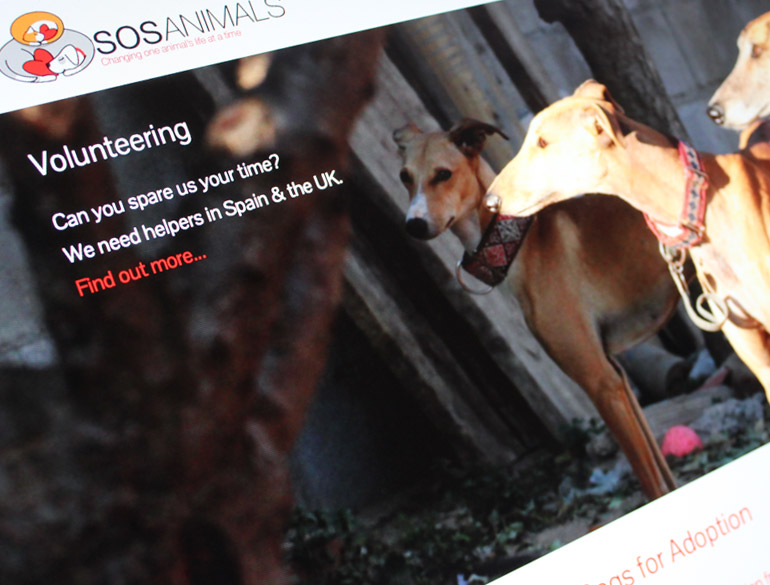 SOS Animals – website