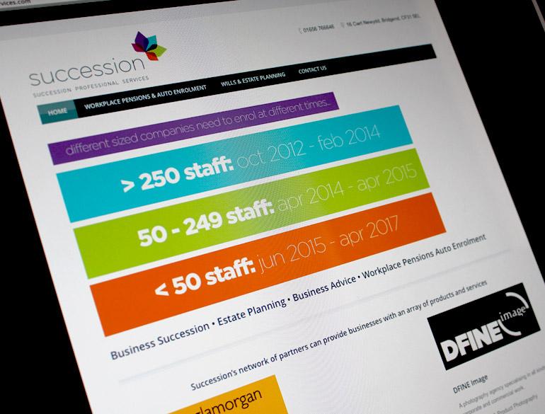Succession Professional Services website - Vroom Media